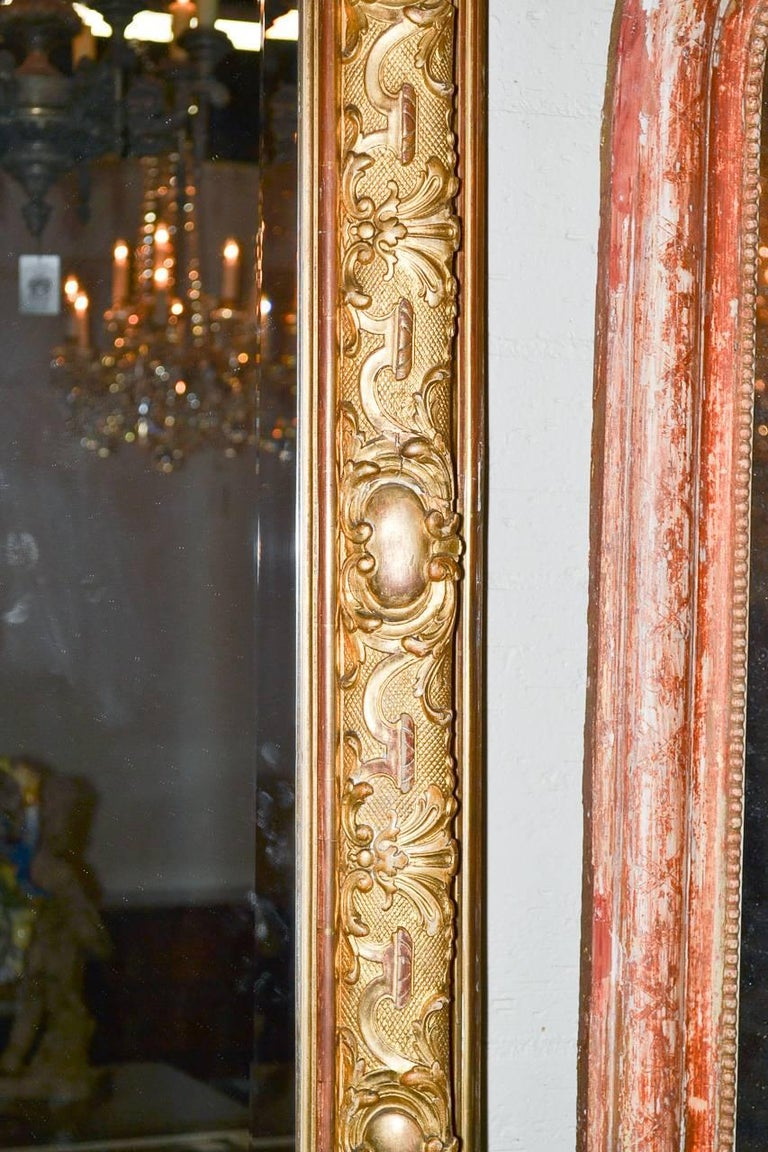 19th Century Palatial French Louis XV Hall Mirror For Sale 2
