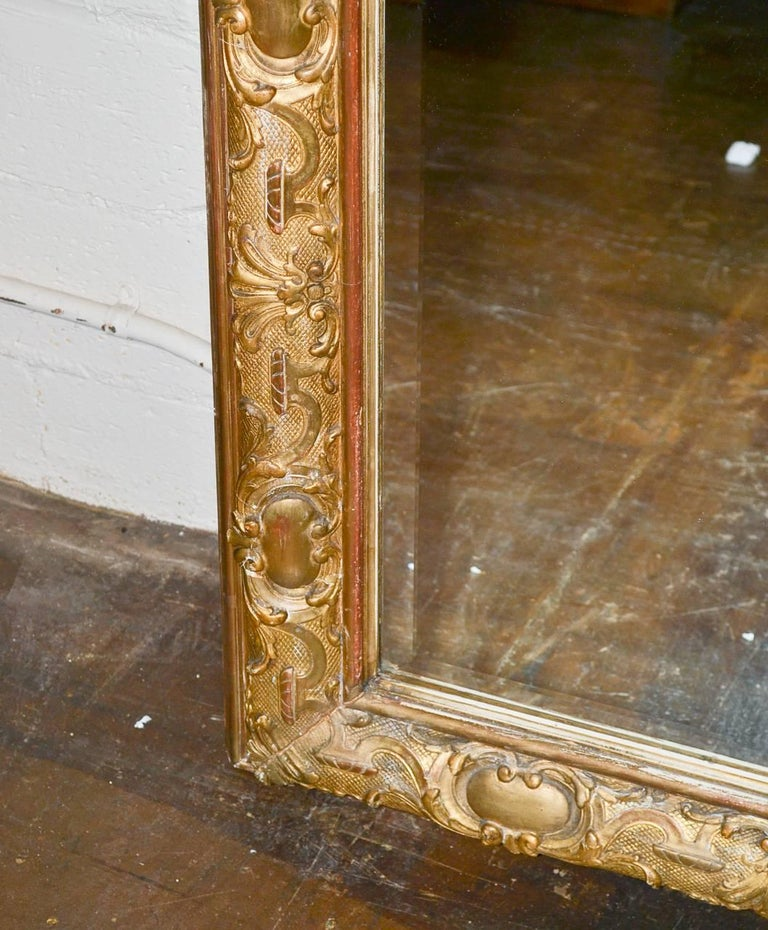 19th Century Palatial French Louis XV Hall Mirror For Sale 4