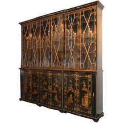 Superb 19th Century English Chinoiserie Breakfront