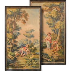 Magnificent Large Pair of 19th Century, French Classical Scene Paintings