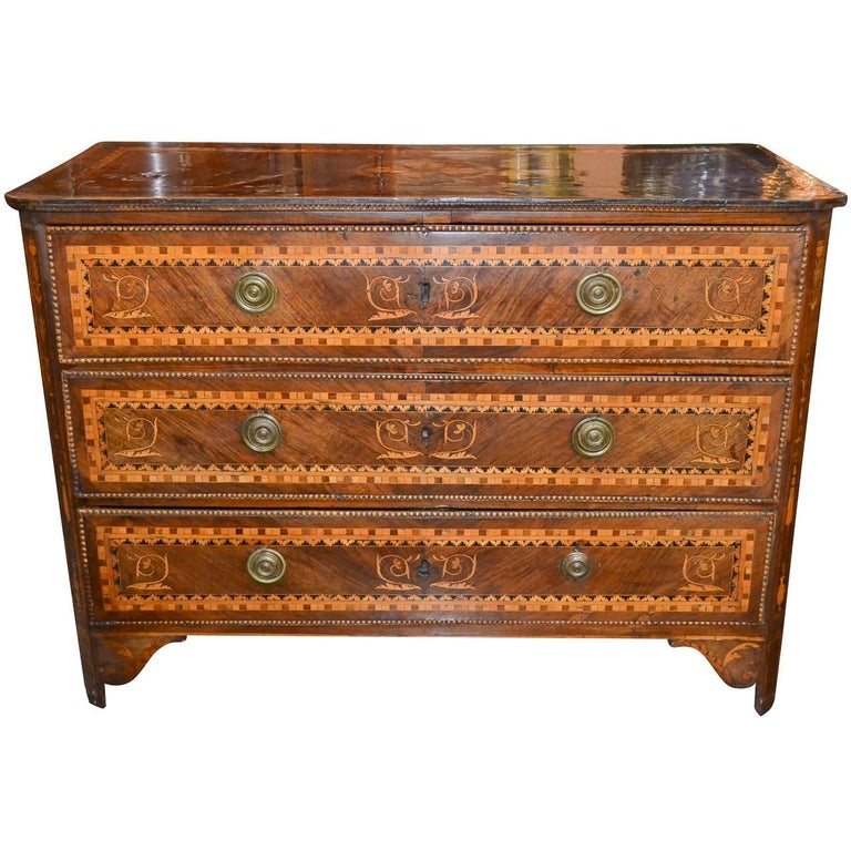 Exceptional 18th Century Italian Marquetry Commode