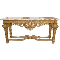 19th Century French Regency Giltwood Console