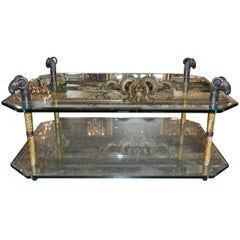 Great Quality Midcentury Bronze Coffee Table