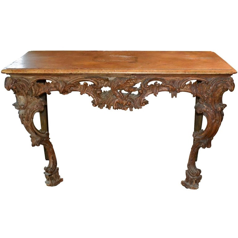 18th Century Italian Carved Console