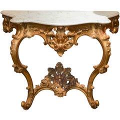 Fine 19th Century French Louis XV Console