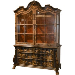 Fine Baker Chinoiserie Dutch Display Cabinet