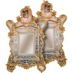 Rare Matching Pair of Venetian Mirrors