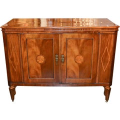 Very Fine English Inlaid Server / Bar