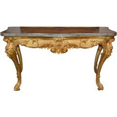 Large and Impressive 19th Century Italian Giltwood Console