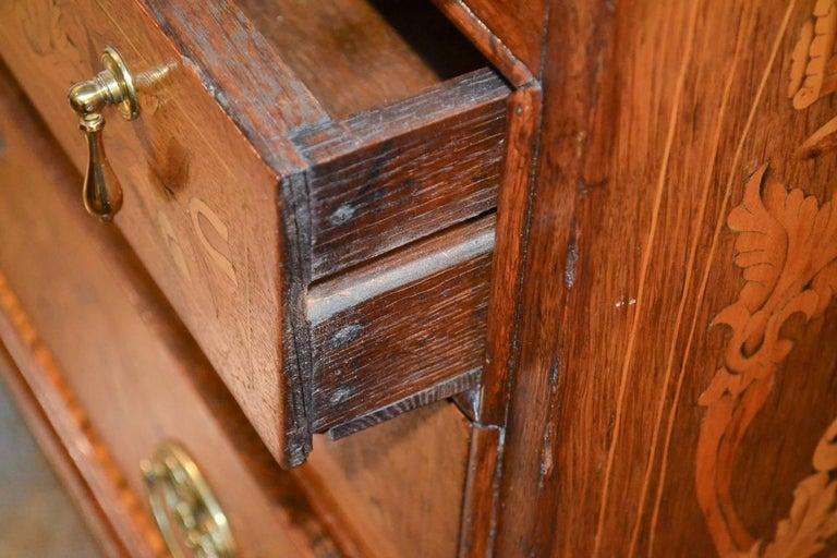 19th Century Continental Oak Bureau For Sale 5
