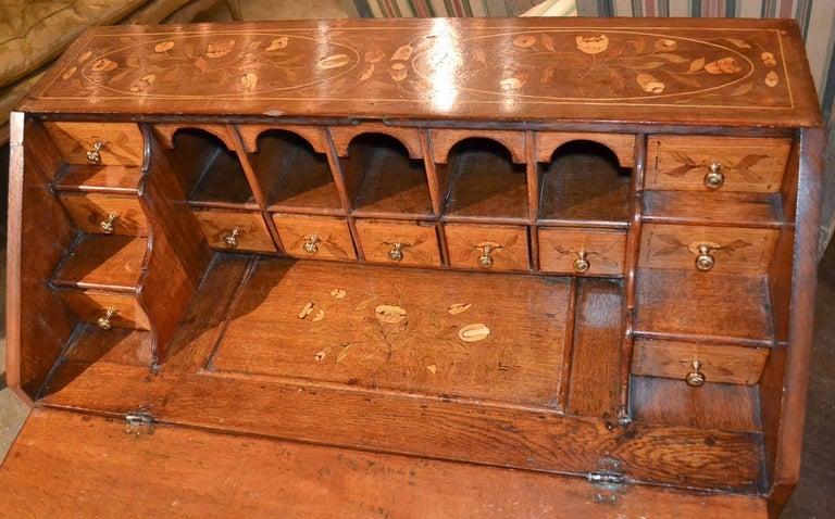 19th Century Continental Oak Bureau For Sale 4