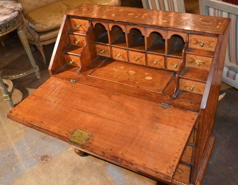 19th Century Continental Oak Bureau For Sale 3