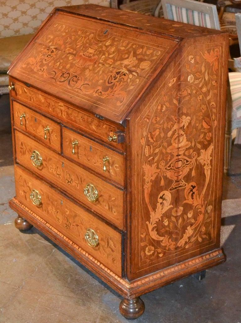 19th Century Continental Oak Bureau For Sale 1