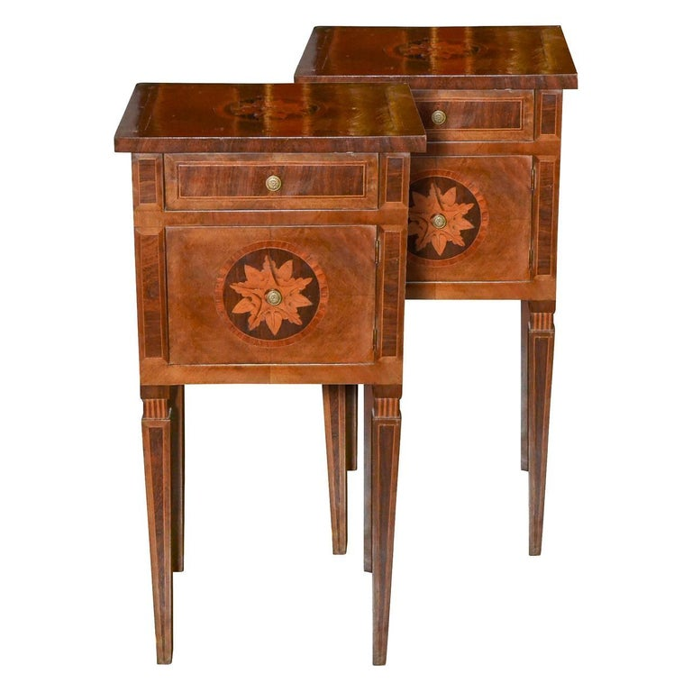19th Century Pair of Italian Neoclassical Side Tables