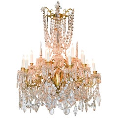 Large Impressive 19th Century Signed French Baccarat Chandelier