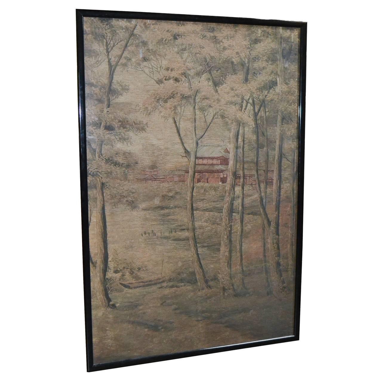 19th Century Japanese Silk Embroidered Piece