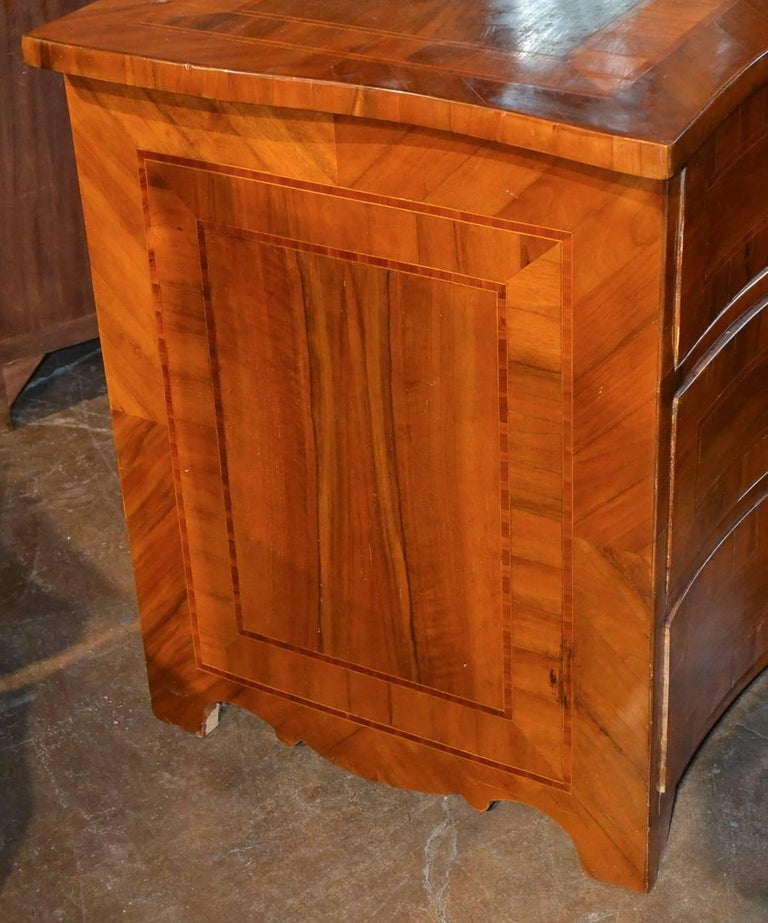 Mahogany 18th Century German Shaped Front Commode For Sale