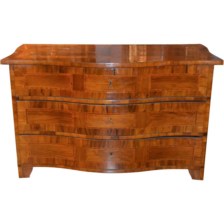 18th Century German Shaped Front Commode
