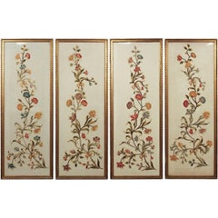 Superb Set of Silk Embroidered Panels