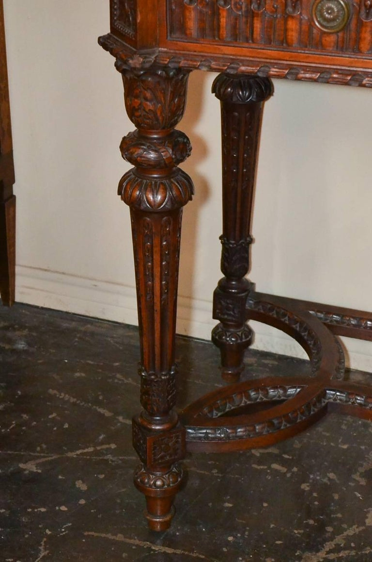 Mid-20th Century French Louis XVI Walnut Console For Sale
