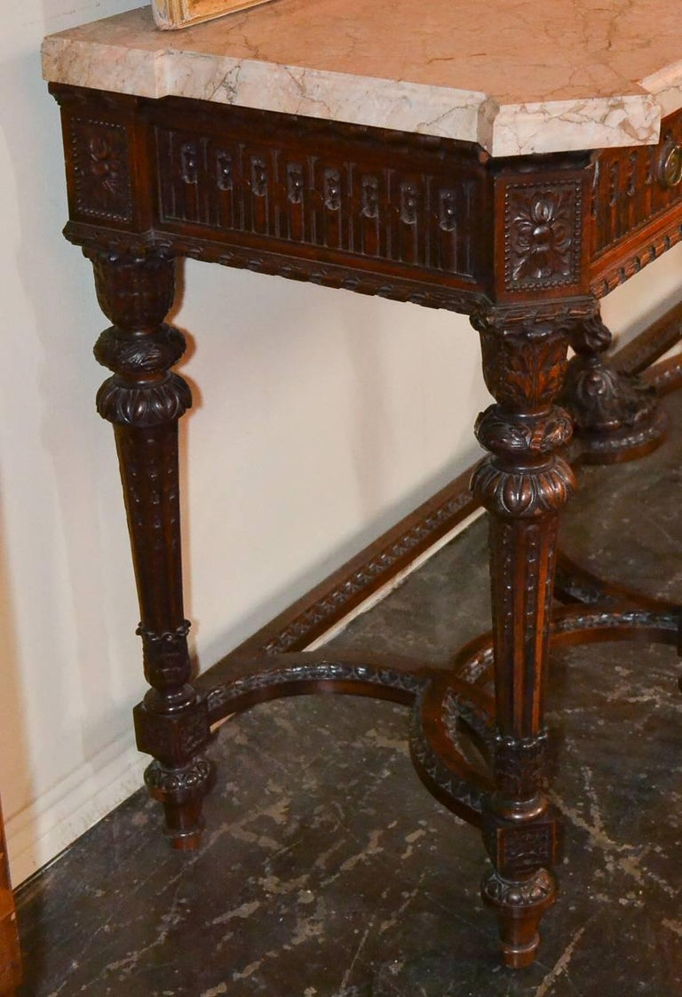 French Louis XVI Walnut Console For Sale 3