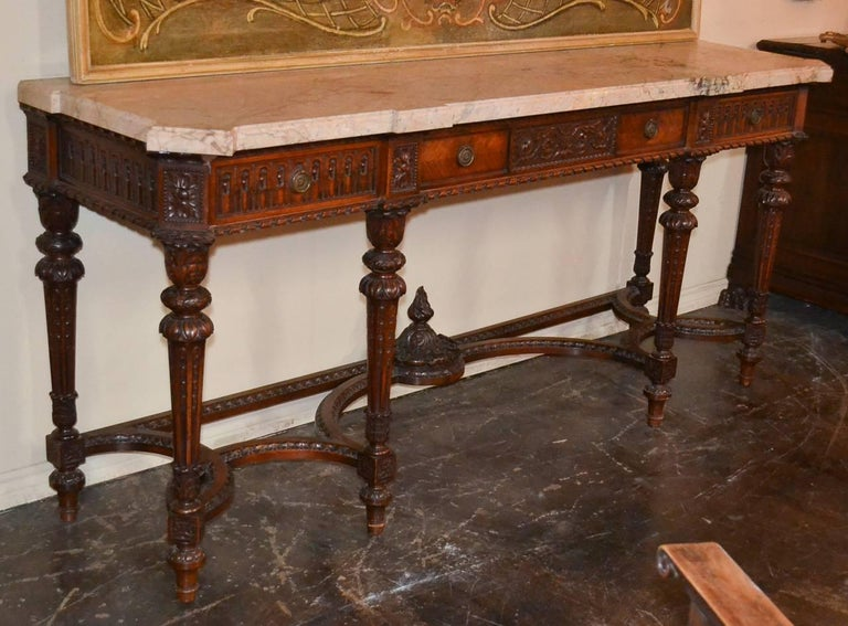 French Louis XVI Walnut Console For Sale 4
