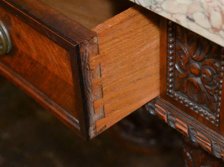 French Louis XVI Walnut Console For Sale 5