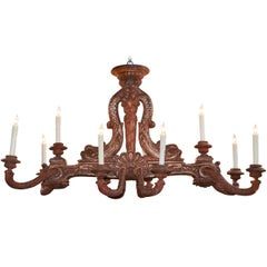 19th Century Italian Carved Chandelier