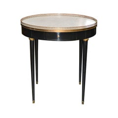 French Black Lacquered Bouillotte Table