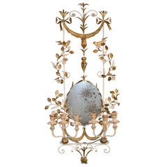 1920s Exceptional Parisian Metal Candelabra Sconce