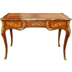 French Louis XV Kingwood and Bronze Writing Desk