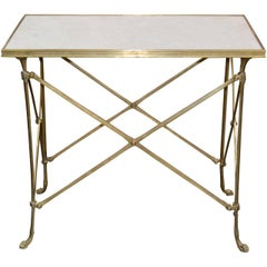 Midcentury French Directoire Gilt Bronze Table