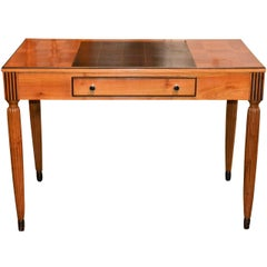 French Art Deco Maple Writing Desk