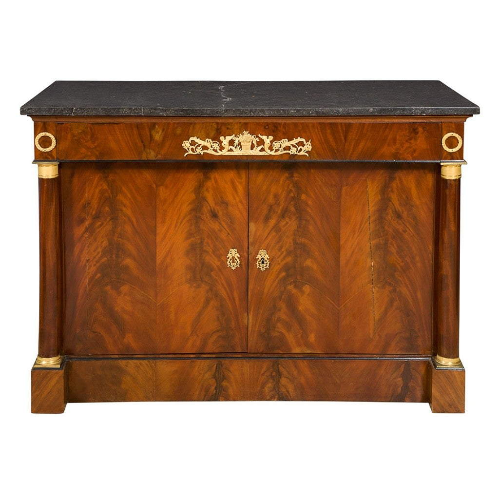 19th Century Empire Gilt-Bronze Mahogany Buffet