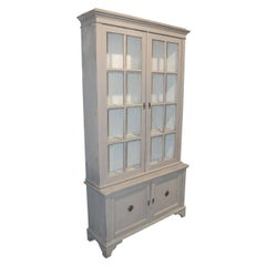 19th Century Swedish Painted Display Cabinet
