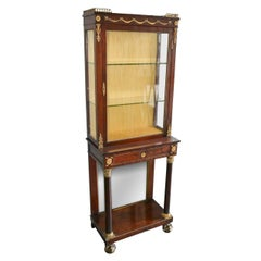 19th Century French Empire Vitrine Cabinet
