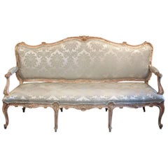 19th Century French Louis XV Upholstered Settee