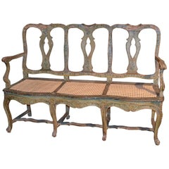 18th Century Italian Hand-Painted Settee