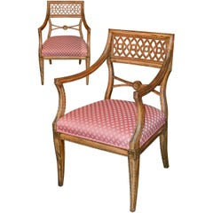 Pair of English Regency Armchairs