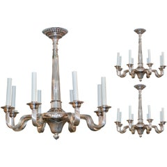 Group of Three Midcentury Chandeliers Individually Priced
