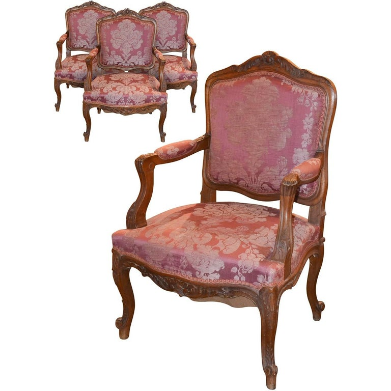 Set of Four 19th Century French Armchairs
