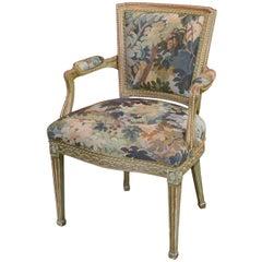 19th Century French Louis XVI Aubusson Armchair