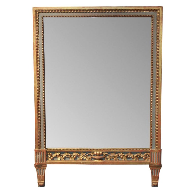 Italian Neoclassical Painted Mirror, circa 1900
