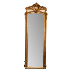 19th Century French Giltwood Full Length Mirror