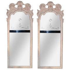 Pair of 19th Century English Carved Mirrors