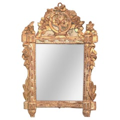 18th Century Italian Carved Wood Mirror