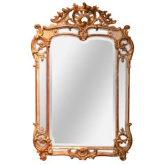 19th Century French Louis XV Giltwood Mirror