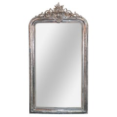 19th Century French Louis Philippe Silver Gilt Mirror