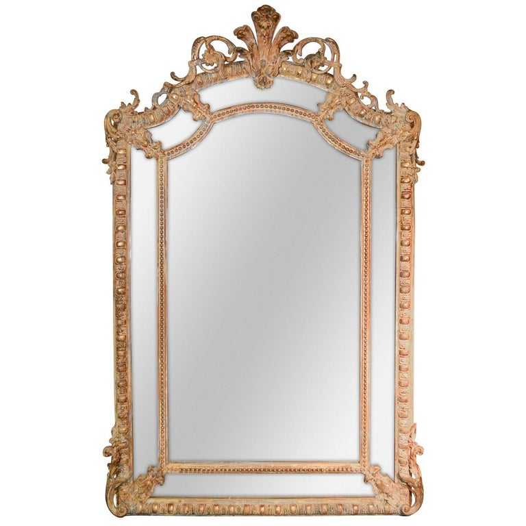 19th Century French Louis XV Carved Mirror