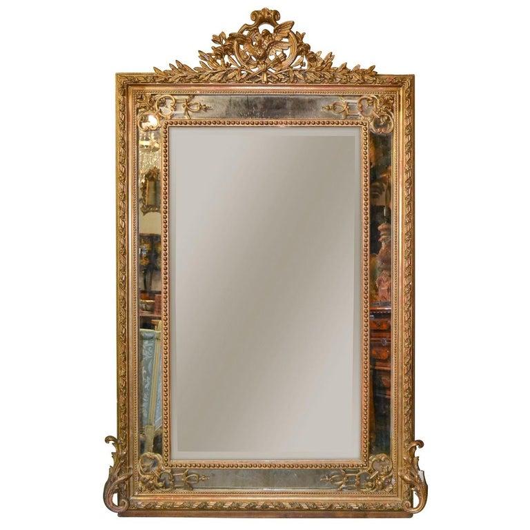 Large 19th Century French Louis XVI Mirror